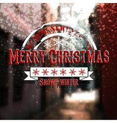 Merry christmas emblem vector image