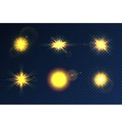 Transparent Lighting Effects collection vector image