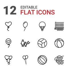 12 balloon icons vector image