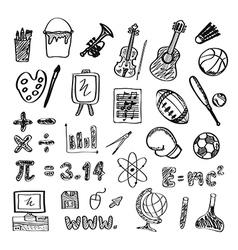 122school icon drawing vector