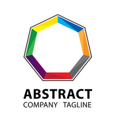 abstract logo template colorful logo design on vector image