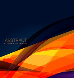 Abstract orange wave style background design vector