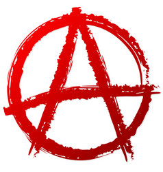 Anarchy symbol or sign anarchy punk anarchism vector