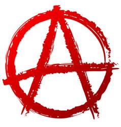 Anarchy symbol or sign punk anarchism vector