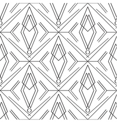 Art deco simple linear seamless pattern vector image