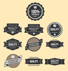Badges template set vector