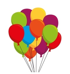 Balloons air party icon vector