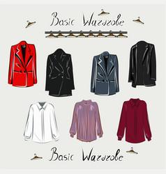 basic wardrobe a minimalist vector image