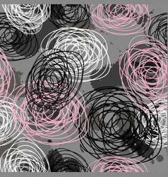 Beautiful seamless blotches pattern blots doodle vector