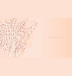 Beige abstract glitch point sphere background vector