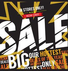 big sale deal vector image