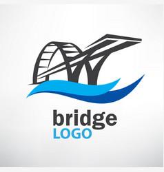 Bridge symbol logo template vector