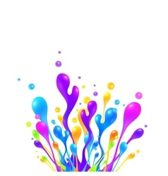 Bright rainbow colors paint splash vector image