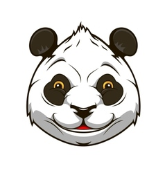 Cartoon panda bear vector image