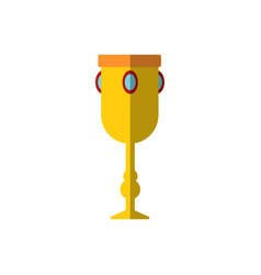 chalice with gemstones vector image