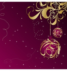 Christmas floral vector image