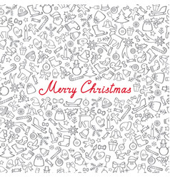 christmas icon pattern happy winter holiday card vector image
