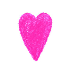 colorful heart shape drawn with vector image