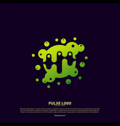 colorful pulse logo design concept people beat vector image