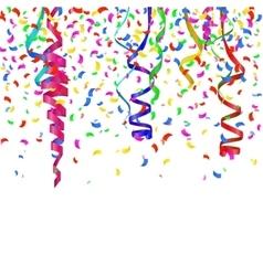 Confetti decoration colorful 1 vector image