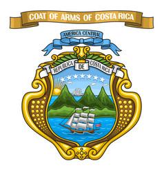 costa rican coat arms vector image