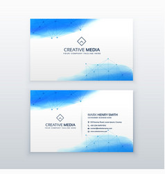 Creative business card simple design template vector