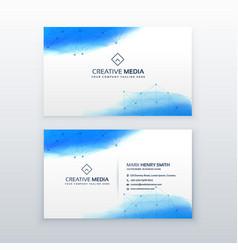 Creative business card simple design template vector