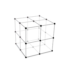 Cube Made is Mesh Polygonal Element vector image