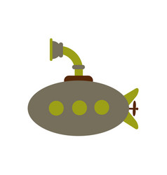 Detailed image of submarine military ship top vector