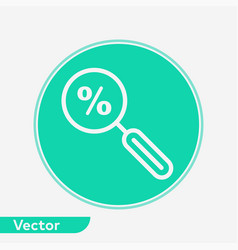 discount search icon sign symbol vector image