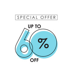 Discount up to 60 off special offer template vector