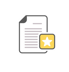 document favorite file page star icon vector image