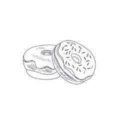 Donuts Hand Drawn Sketch vector