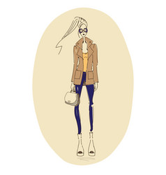 fashion-coat vector image