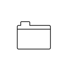file folder outline icon signs and symbols can be vector image