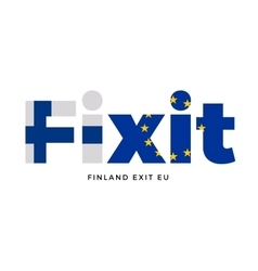 FINEXIT - Finland exit from European Union on vector