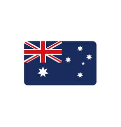 flag nation symbol australia icon on white vector image