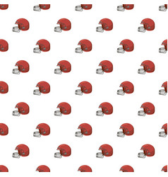football helmet with face mask pattern vector image