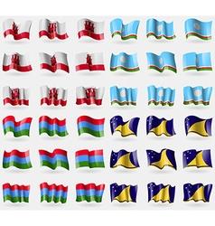 Gibraltar Sakha Republic Karelia Tokelau Set of 36 vector