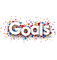 Goals sign vector