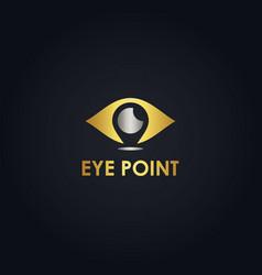gold eye logo vector image