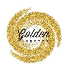 Gold Glitter Sparkles Bright Confetti white vector image