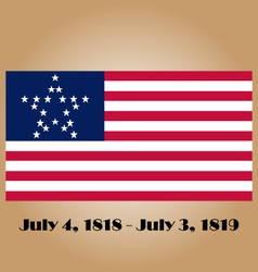 Great Star Flag vector image