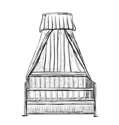 Hand Drawn Baby Cradle vector