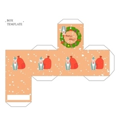 Holiday box template vector