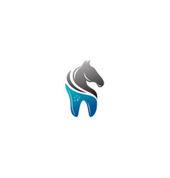 Horse dental logo vector