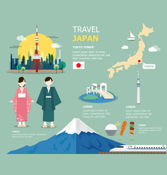 japanese map for traviling in japan design vector image