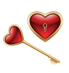 key and heart vector image
