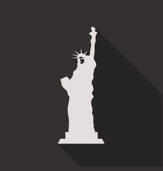 liberty statue icon in flat style with shadow vector image