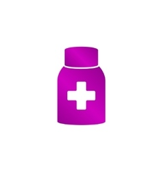 Medicine bottle icon vector
